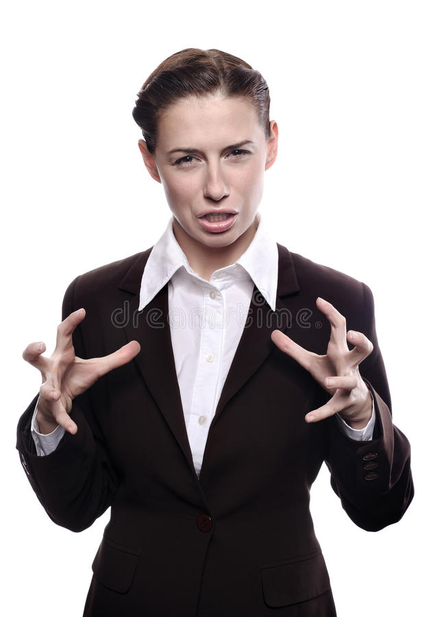 Angry and frustrated woman stock photo