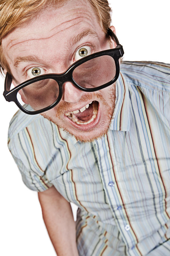 Download The Angry Geek stock photo. Image of geek, humorous, hair - 9905140
