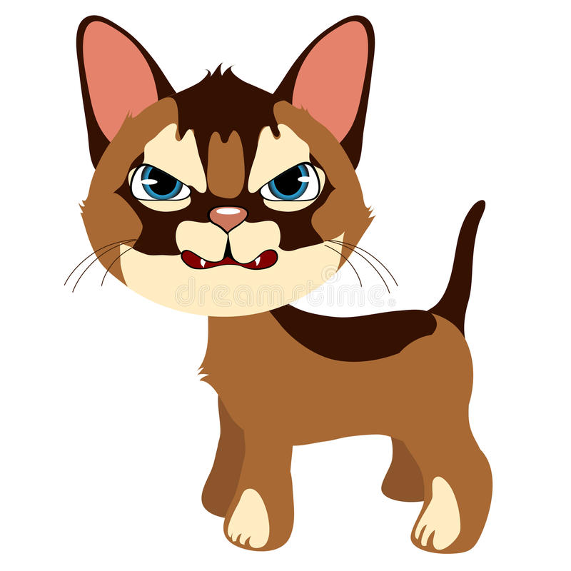 angry ginger cat vector cartoon pet isolated stock vector rh dreamstime com angry cat cartoon pics angry cartoon cat face