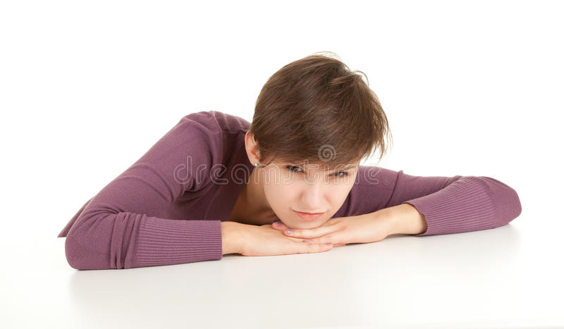Download Angry girl stock photo. Image of portrait, woman, emotion - 21498832