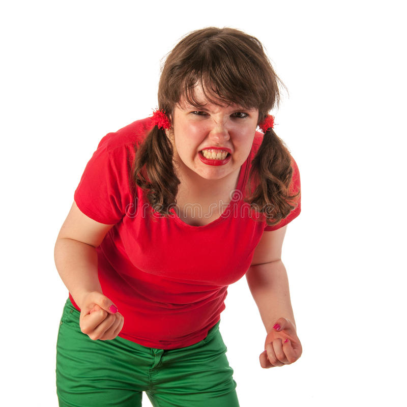 Download Angry girl stock photo. Image of tailes, furious, woman - 26646900