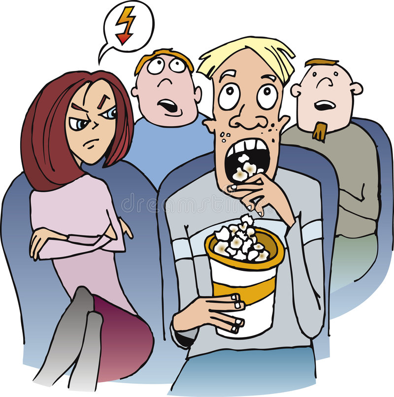 Download Angry Girl With Guy In Movie Theatre Stock Vector - Image: 6988689