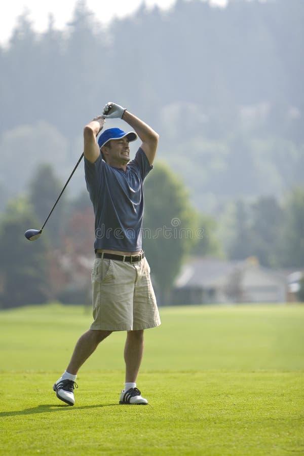 angry golfer vertical στοκ φωτογραφίες