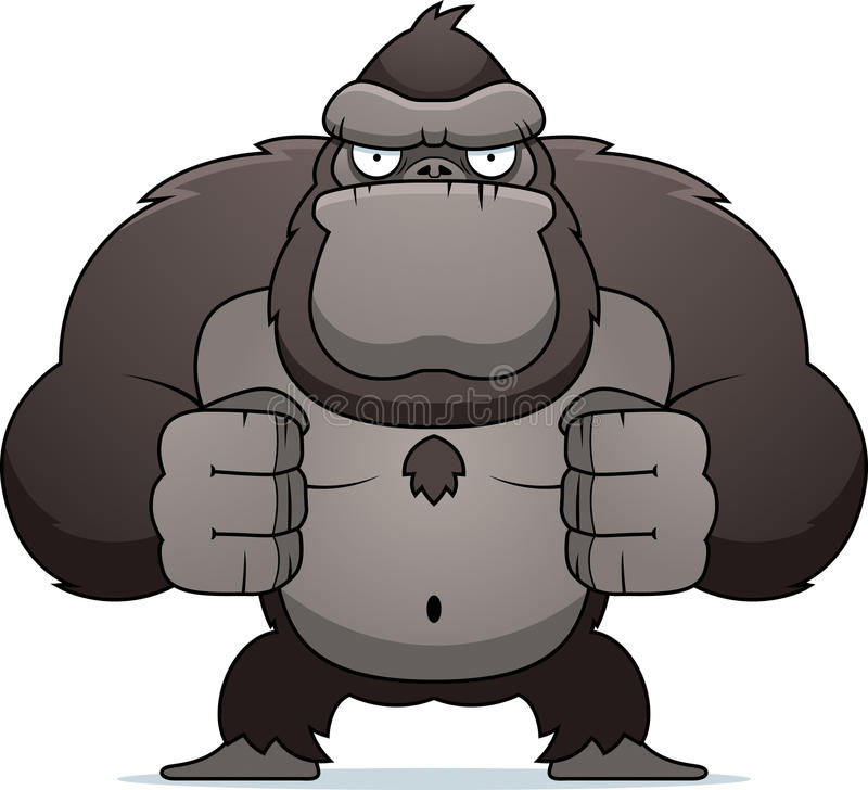 Download Angry Gorilla stock vector. Image of angry, flexing, frown - 15503515