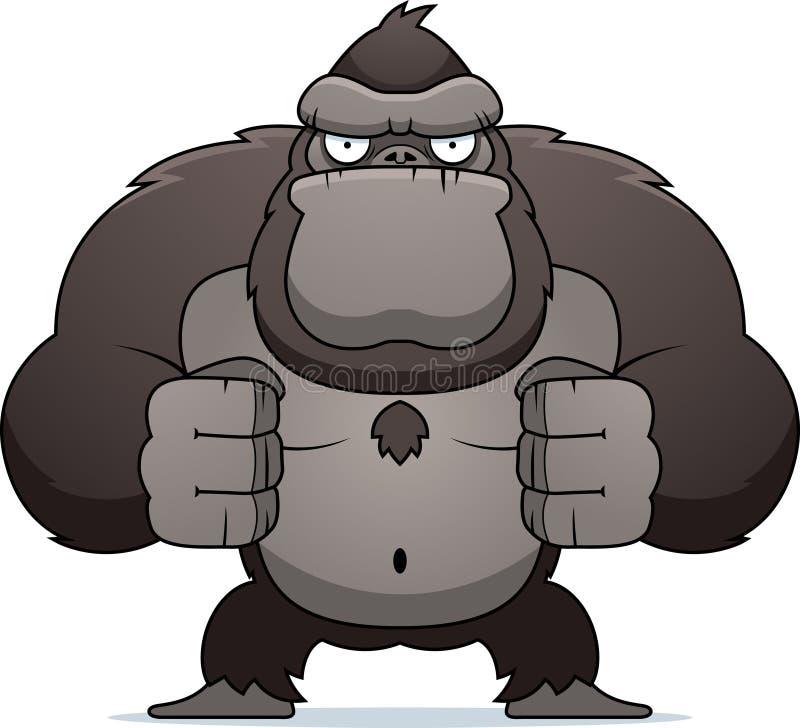 Angry Gorilla stock illustration