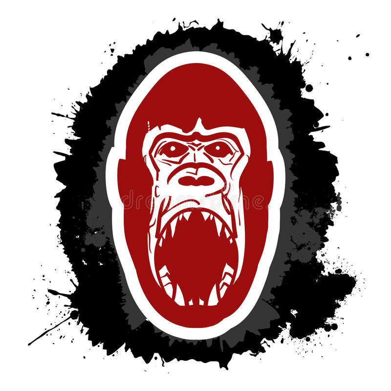 Angry gorilla royalty free illustration