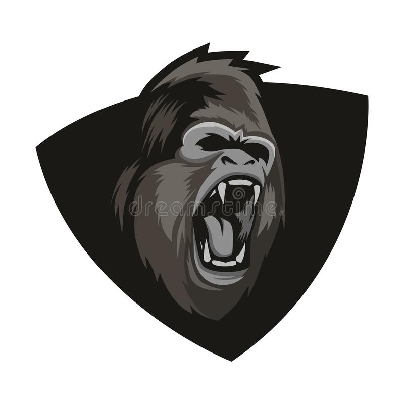 Angry Gorilla Head Logo With Background Vector vector illustration