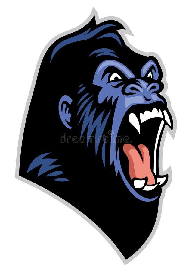 Angry gorilla head stock illustration