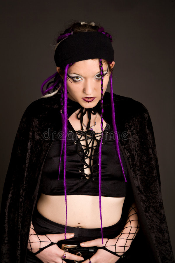 Download Angry goth stock photo. Image of horror, isolated, stare - 4601582