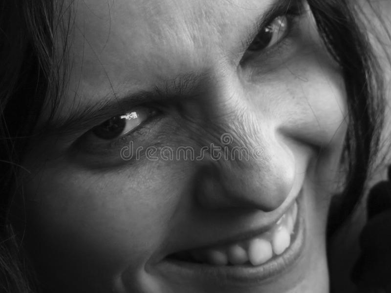 Angry grin royalty free stock photography