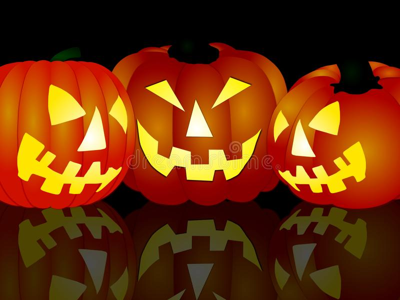 Angry halloween pumpkins royalty free stock images