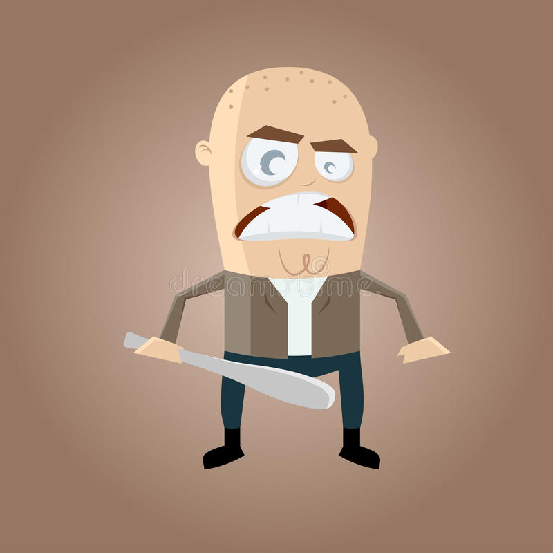 Angry hooligan cartoon stock illustration