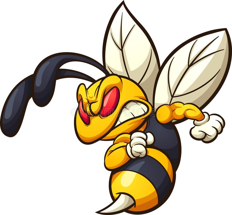 Free Angry Hornet, Wasp, Or Bee Mascot Royalty Free Stock Photo - 138750925