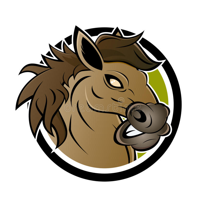 Angry horse sign