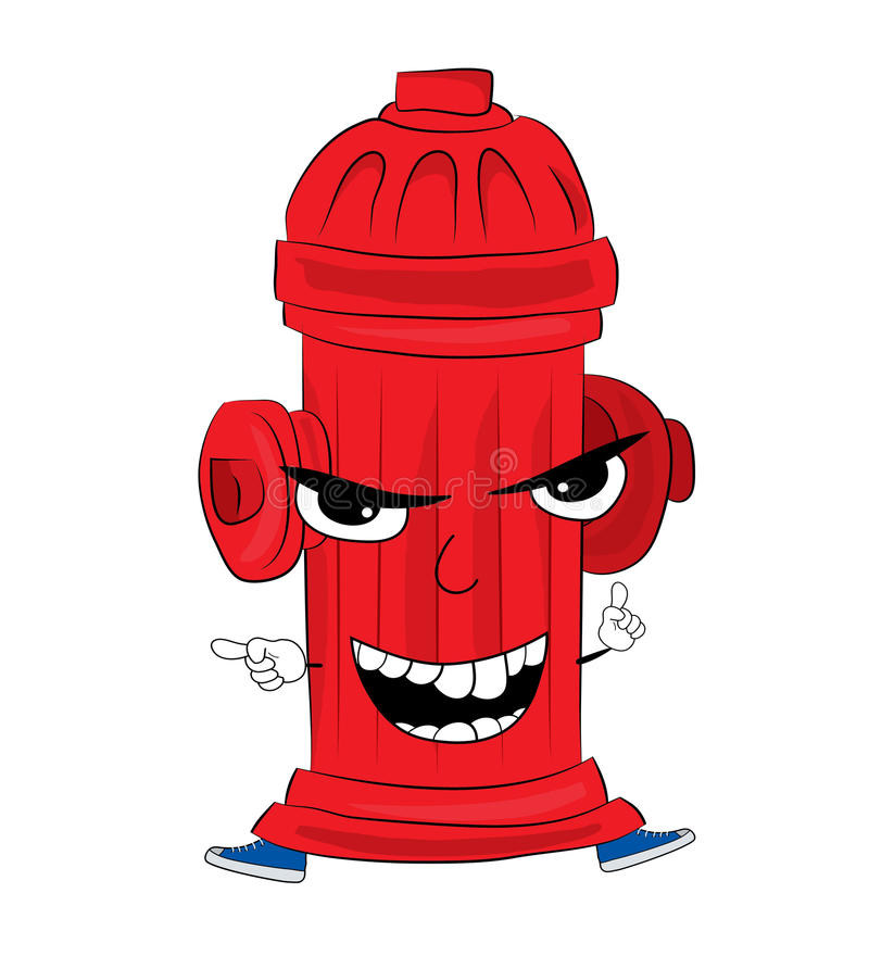 Angry hydrant cartoon. Vector illustration of angry hydrant cartoon vector illustration