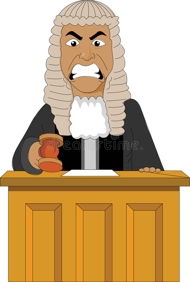 Angry Judge stock illustration