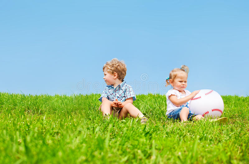 Angry kids royalty free stock photo