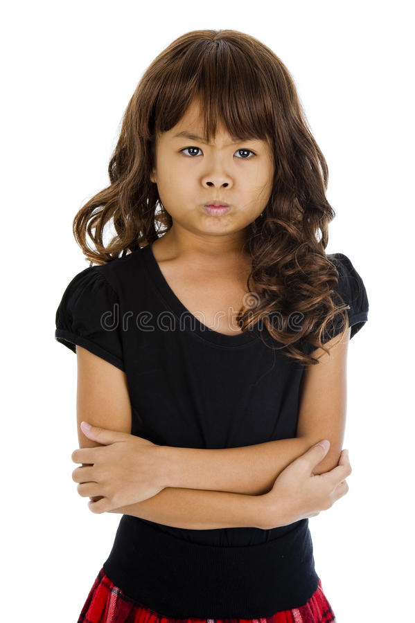 Angry little asian girl — img 15