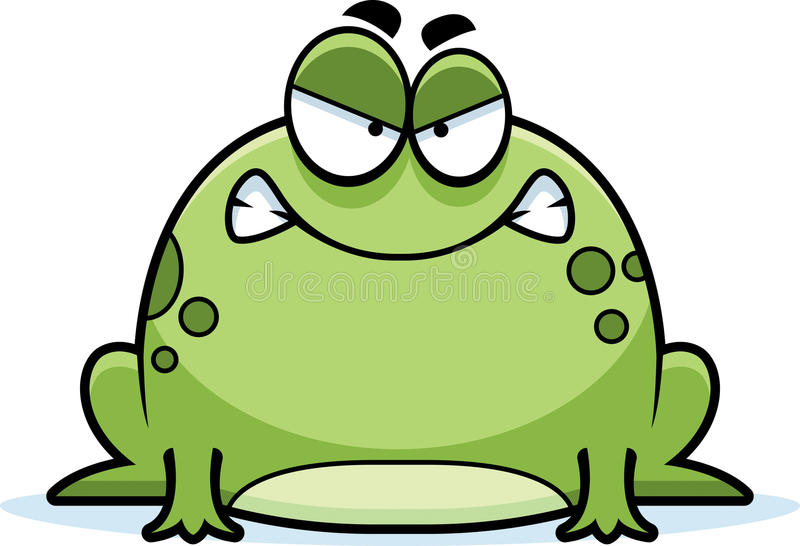 Angry Little Frog stock illustration