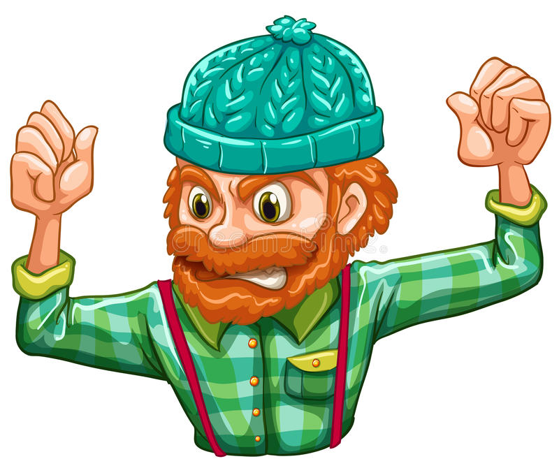Download An angry lumberjack stock illustration. Image of cartoon - 33615239