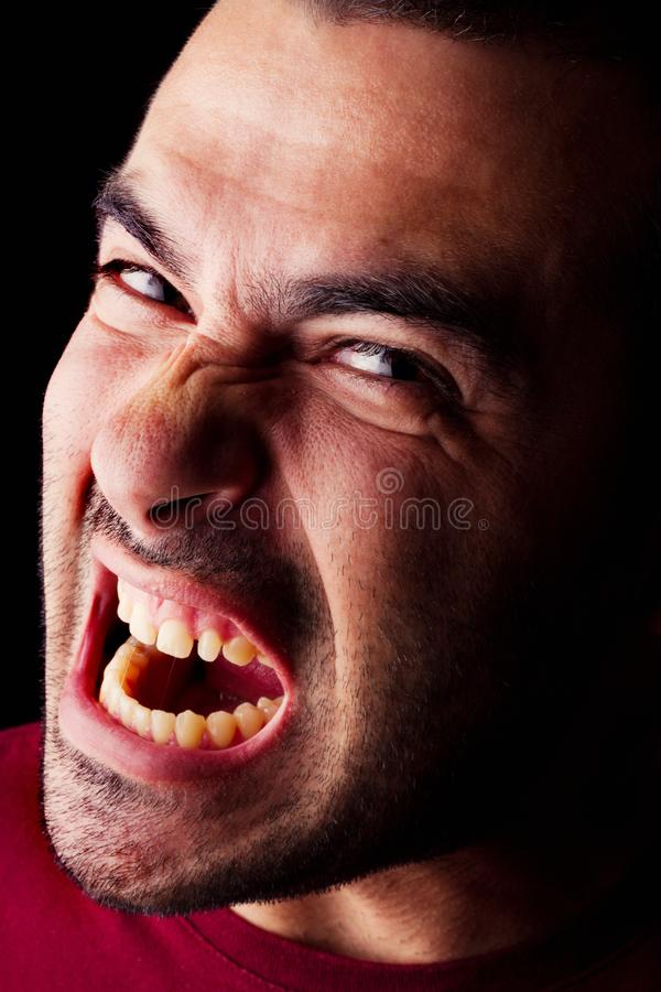 Angry male man royalty free stock images