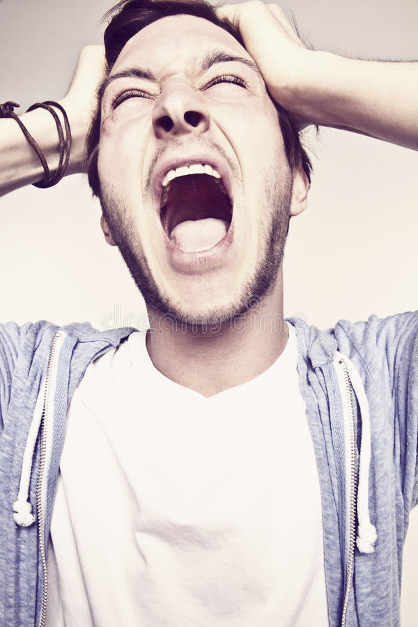 Download Angry man stock image. Image of happy, isolated, shouting - 20192279