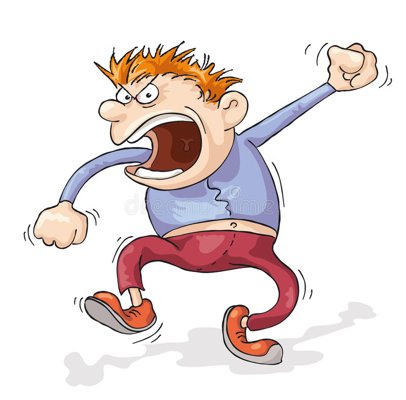 Angry Man stock illustration