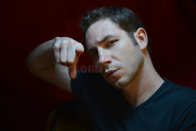 Download Angry man stock image. Image of serious, eyes, look, angry - 28308589