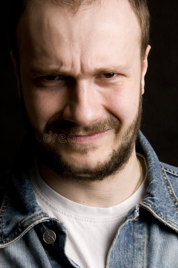 Download Angry man stock image. Image of hairy, arrogant, hand - 4995375