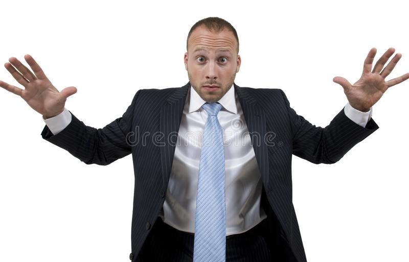 Angry man stock photo