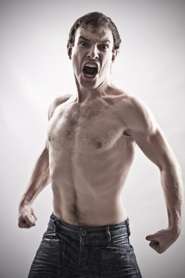 Free Angry Man Royalty Free Stock Image - 7553746