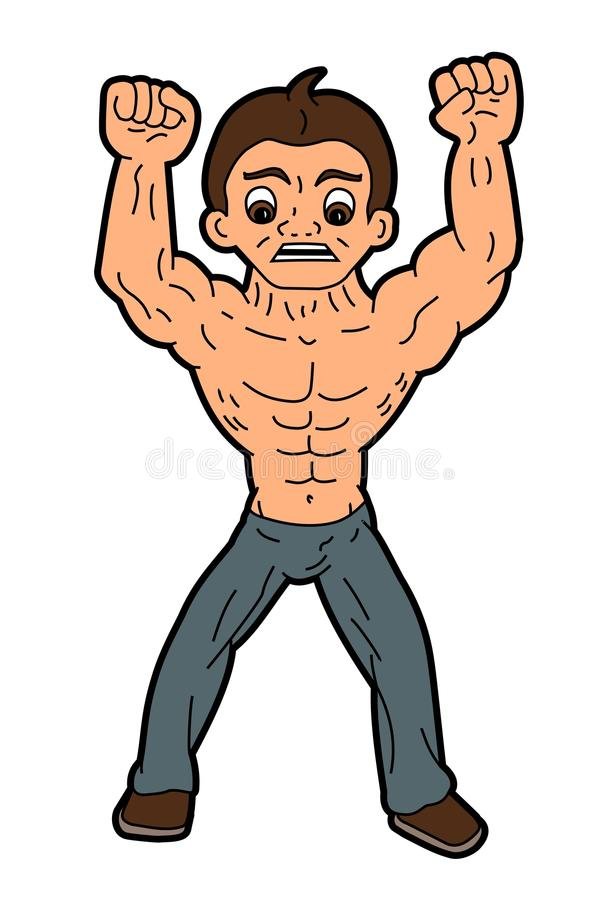 Angry man cartoon stock illustration