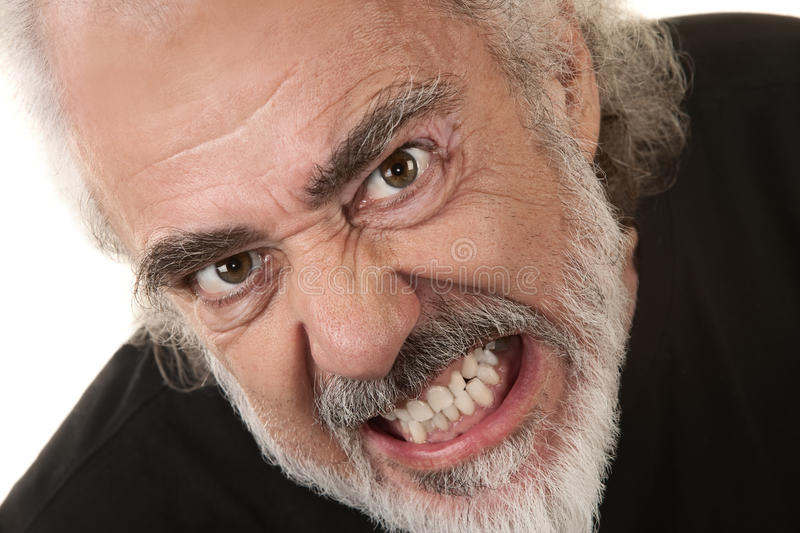 Angry Man Clenches Teeth royalty free stock photos