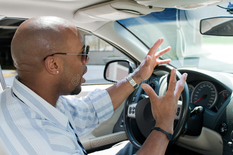 Download Angry Man Experiencing Road Rage Stock Image - Image: 20908831