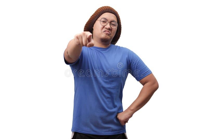 Angry Man Giving Warn stock photos