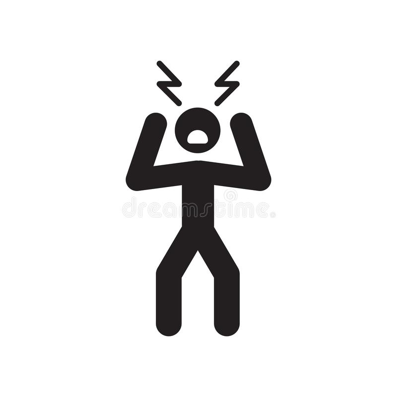 Angry Man icon. Trendy Angry Man logo concept on white background from People collection. Suitable for use on web apps, mobile apps and print media stock illustration