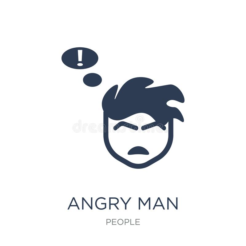 Angry Man icon. Trendy flat vector Angry Man icon on white background from People collection. Vector illustration can be use for web and mobile, eps10 stock illustration