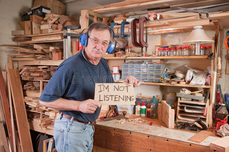 Angry Man Not Listening Stock Photos