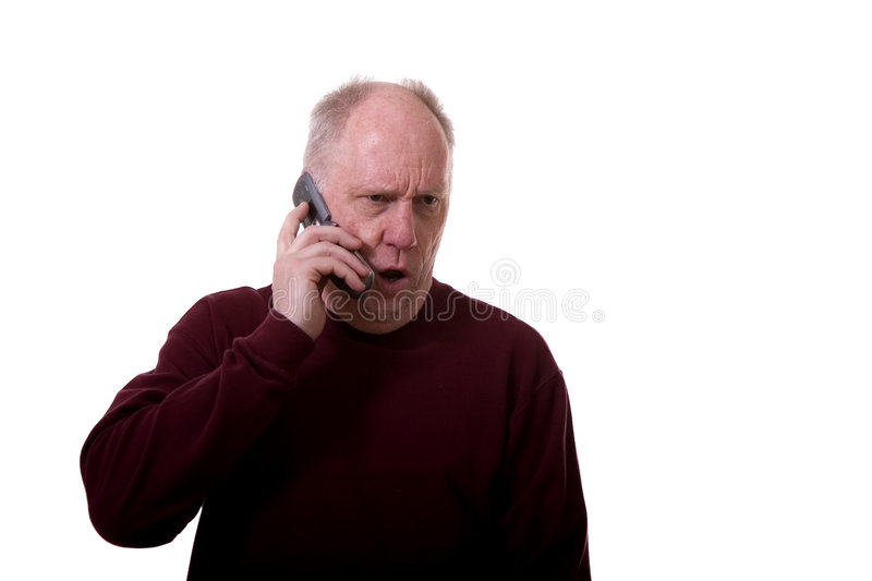 Angry Man on Phone royalty free stock photo