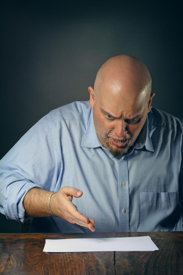 Download Angry man stock photo. Image of conceptual, office, paper - 32623850