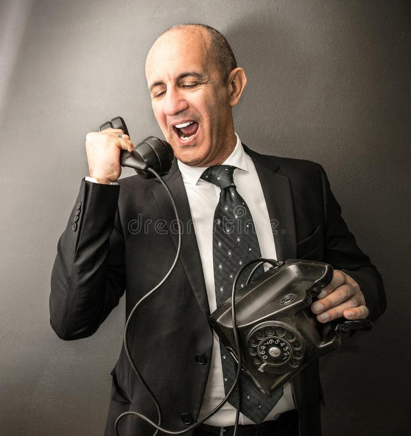 Manager talking on the phone royalty free stock photography