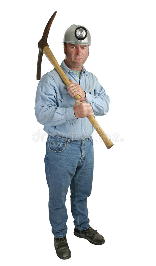 Free Angry Miner Stock Image - 490041