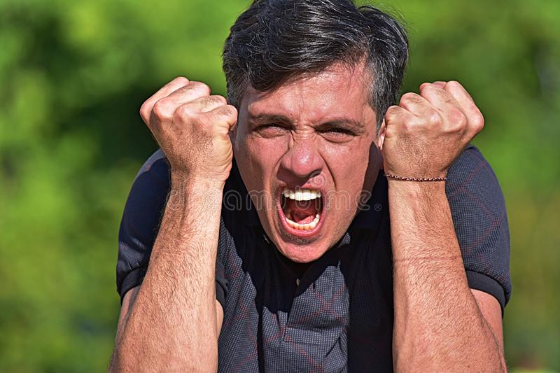 Angry Minority Person royalty free stock images