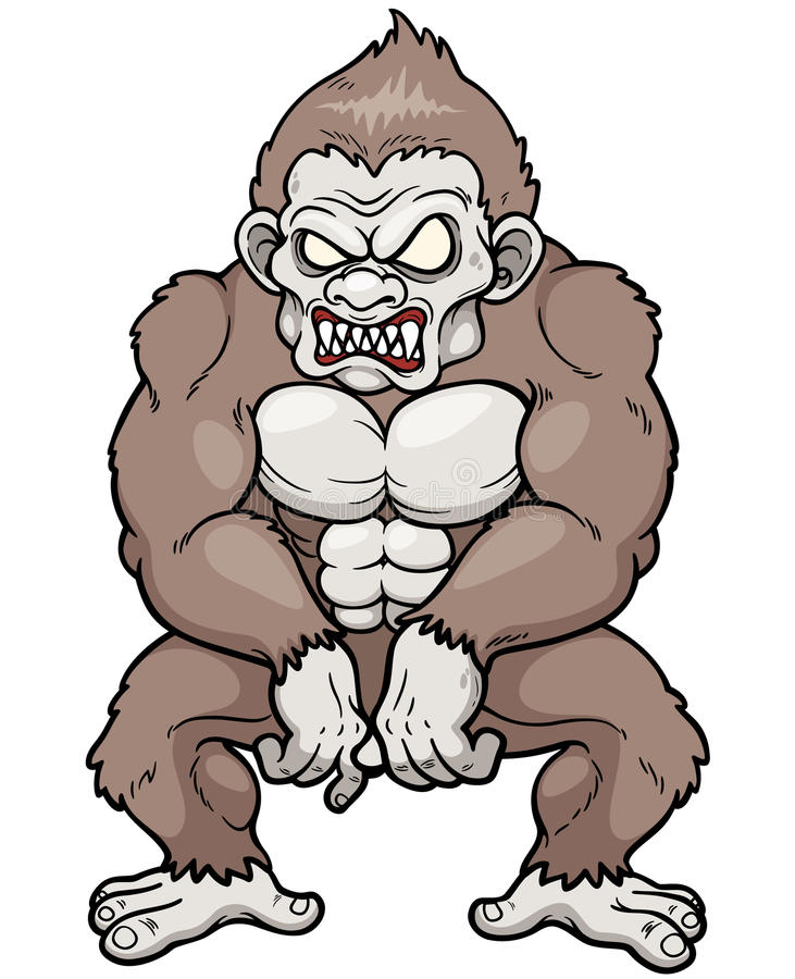 Angry monkey royalty free illustration