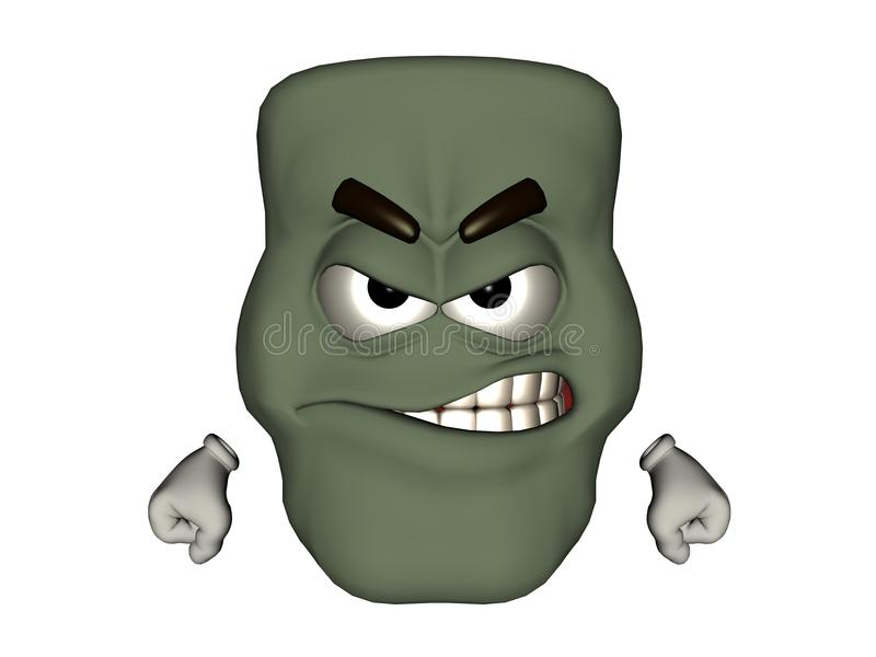 Angry Monster Emoticon stock photos