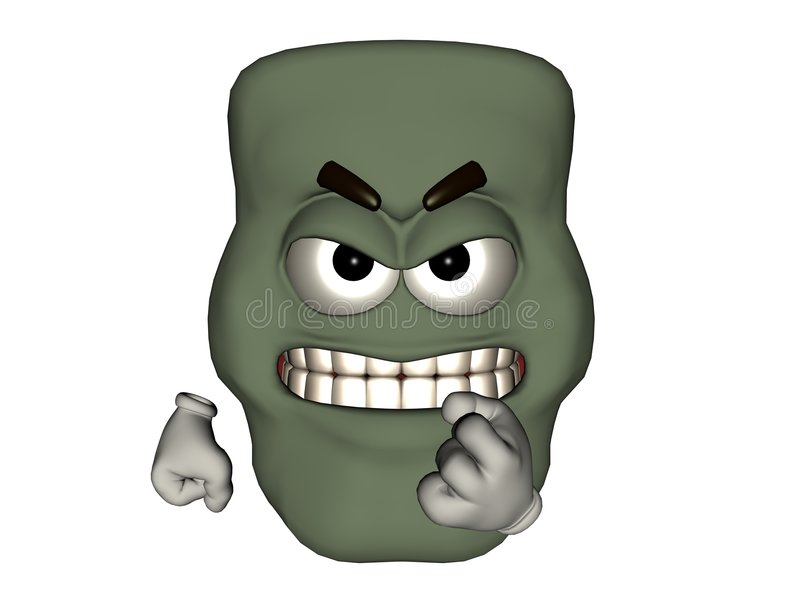 Angry Monster Emoticon