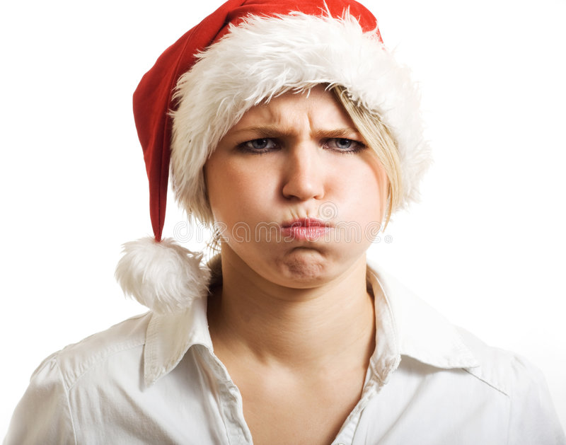 Angry Mrs Claus. royalty free stock photography