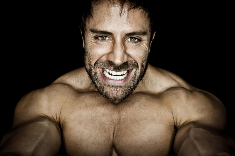 Download Angry Muscled Bodybuilding Man Stock Photo - Image of lifting, gorgeous: 22280458