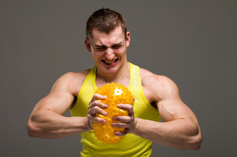 Angry Muscular Man Royalty Free Stock Photo