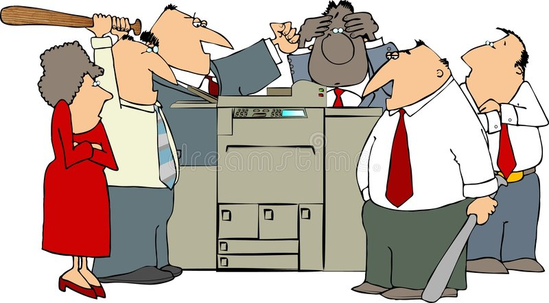 Download Angry Office stock illustration. Image of male, broken - 3273309